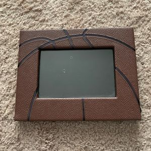 Basketball leather 4x6 picture frame